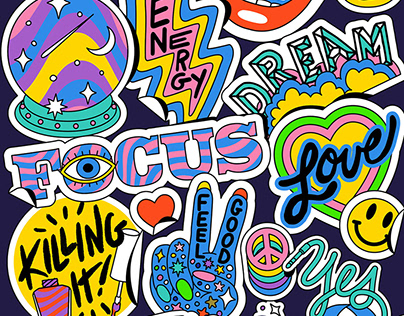 Illustrated Sticker Graphics