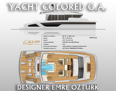 YACHT COLORED GENERAL ARRANGEMENT