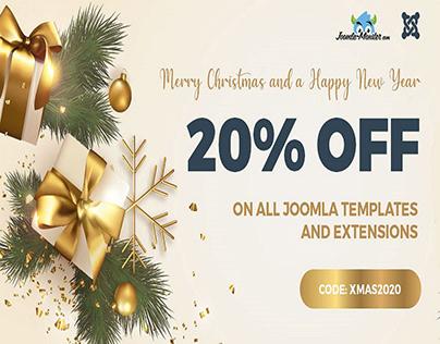 Christmas SALE - Joomla templates 20% OFF