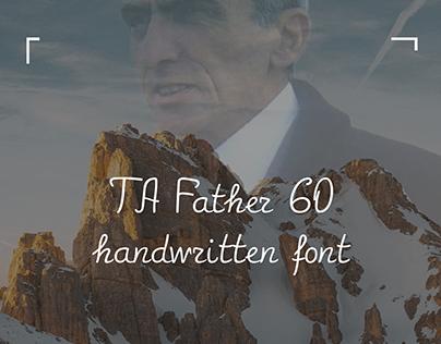 TA Father 60   Handwritten Font