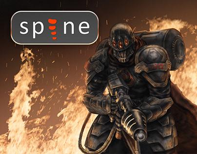 C&C Tiberium Wars Black Hand soldier Spine 2D animation
