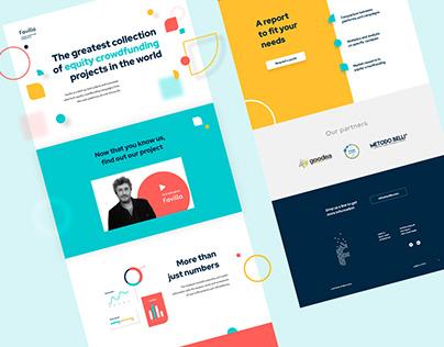 Web design | Favilla landing page