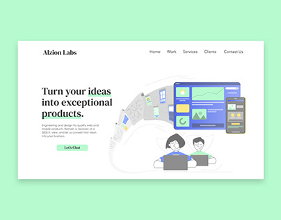 Alzion Labs | Website Illustrations