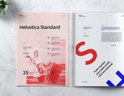 HELVETICA - Magazine Template