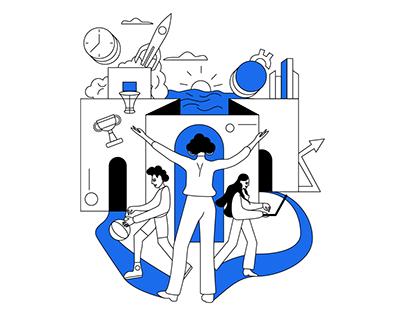 illustrations for children's education school