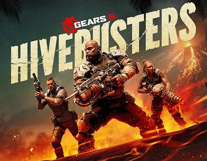 Gears of War 5 Hivebusters DLC Key Art
