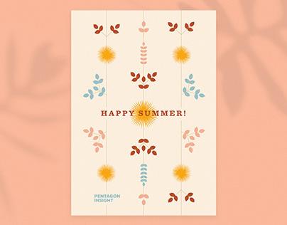 Happy Summer postcard
