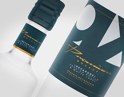 Beverage - Glass - Frosted Bottle - Matte Label