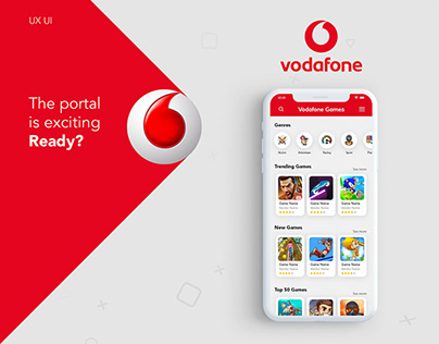UI/UX Design for Vodafone Gaming Portal | Mobile App