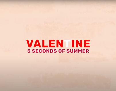 Valentine - 5SOS lyric video [Kinetic Typography]