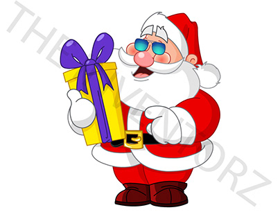 HAND FOLDED SANTA CLAUSE WITH COOL SUN GLASSES PROJECT