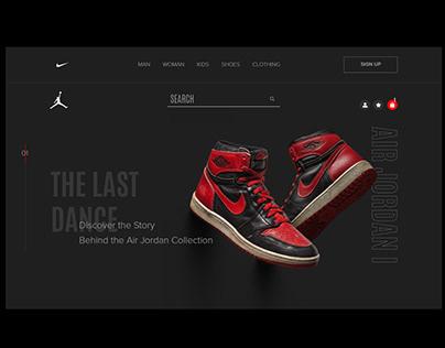 AIR JORDAN/Redesign concept/Website UI/UX