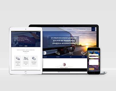 Diseño web corporative OnePage - TLI Andorra