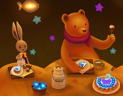 The Orange Bear's Restaurant : Star Tarts