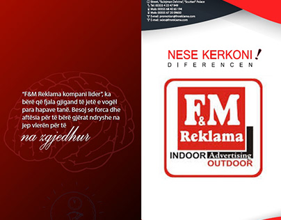 Brochure + Business Card for FM REKLAMA