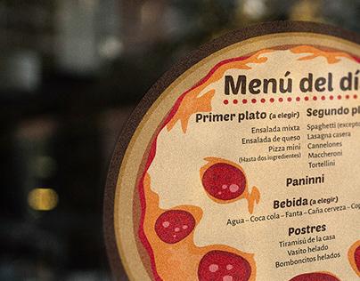 Vinilo pizzería Pizza-tutto