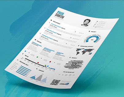 Infographic Resume/Cv Volume 1