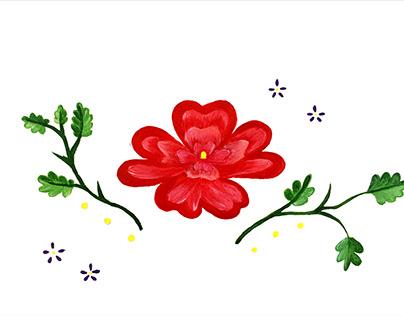 Asymmetric embroidery