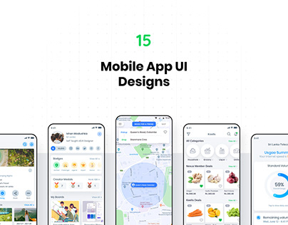 Mobile App UI Design: Showcase 2019
