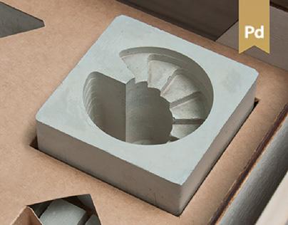 Ando. Concrete Desk Organizer.