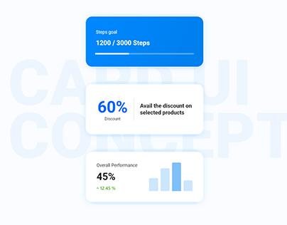 Activity Tracker Card ui concept