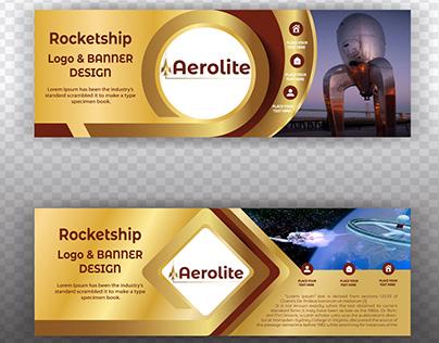 Rocket ship Logo & Banner