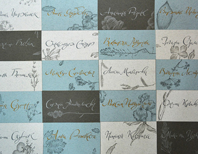 Caligraphy cards