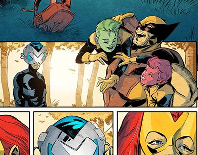 Marvel Test Pages