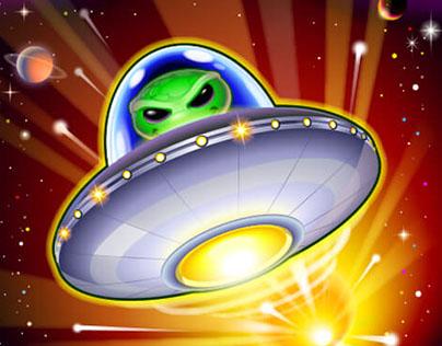 Slot game:  U.F.B. Unidentified Flying Bonus
