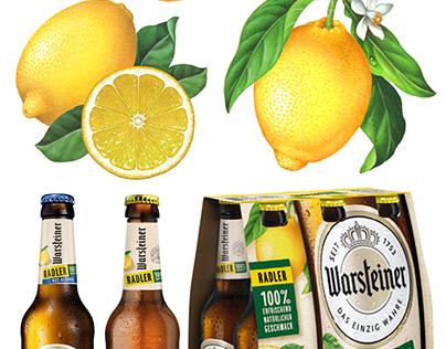 Lemon Illustrations for Warsteiner Radler Beer