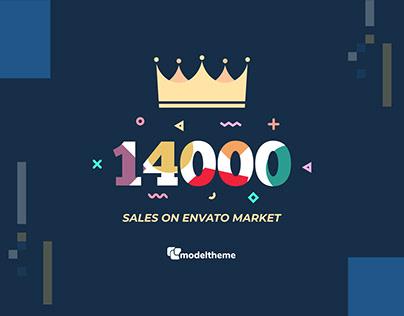 14k Sales on Envato Marketplace