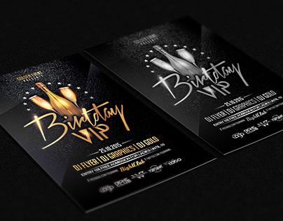 Birthday VIP PSD Flyer Template