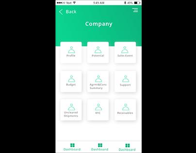 Sales mobile application
