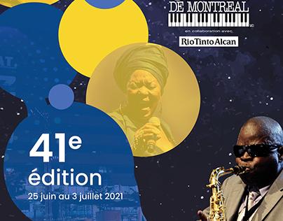 Affiche festival de Jazz de Montréal et déclinaison