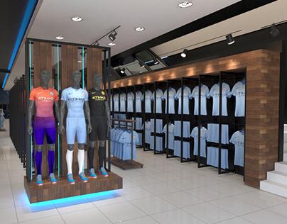 Manchester City Store, Arndale. Design & Visusalisation