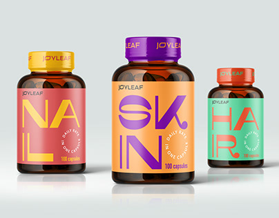 Package design for a line of vitamins