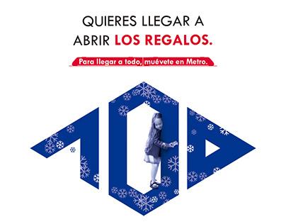 Propuesta Metro Madrid. Campaña Navidades. Dir. Arte.
