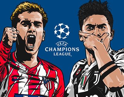 Champions League - Atlético Madrid vs Juventus