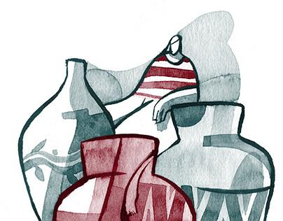 A vendedora de vasos