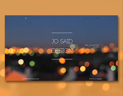 Jo Said Design Portfolio - Website