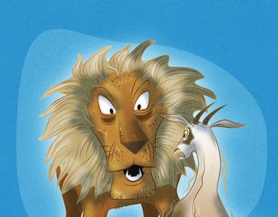 2 - den gamle løve og gederne