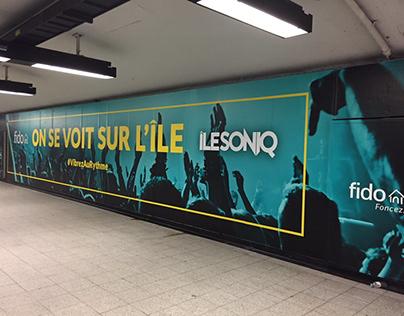 Fido Mobile - Domination du métro Berri-UQAM