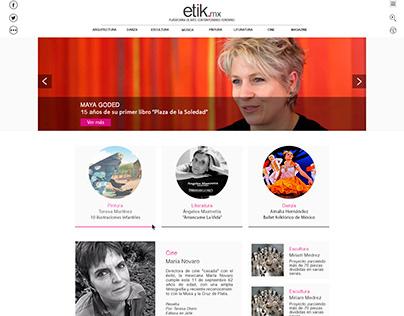 Diseño web Etik.mx