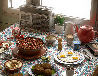 Typical Egyptian Breakfast
