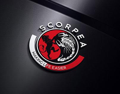 Scorpion and Lion Round Logo