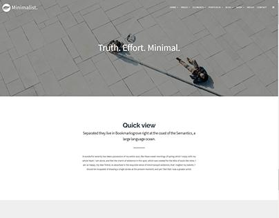 About Us - Minimalist WordPress Theme