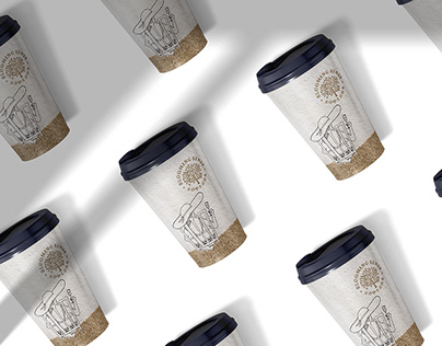 Individual cups for takeaway coffee for the restaurant