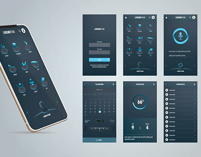 Abstract mobile application design.