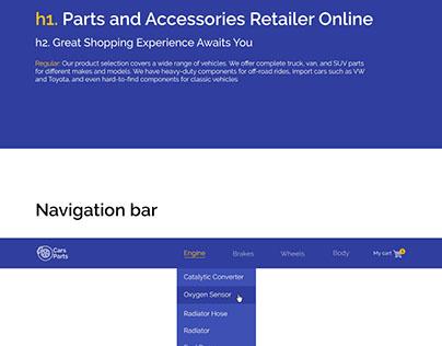 CarsParts.com (UI-kit)