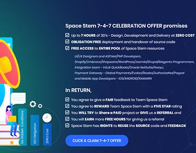 SPACESTEM 7th Anniversary 7-4-7 offer!